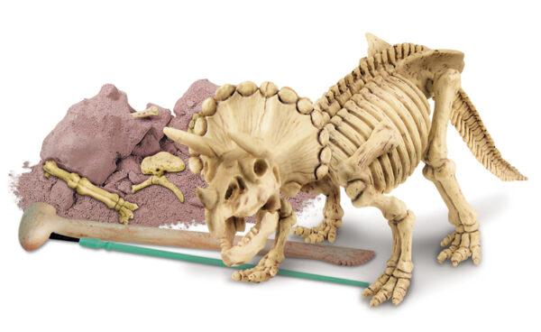 Graaf je dino op triceratops 4M leonietjes