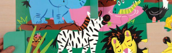 Lift the flap puzzle on safari mudpuppy 01