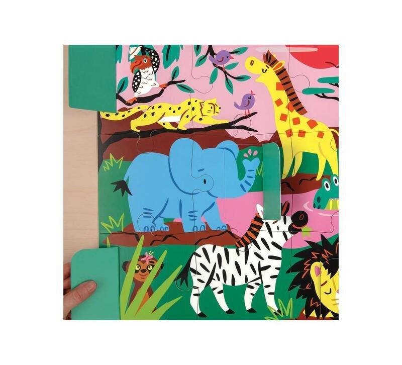 Lift the flap puzzle on safari mudpuppy 02