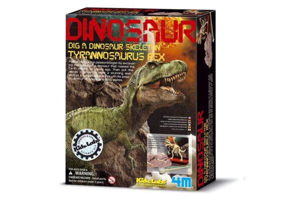 graaf je dino op T-Rex 4M Kidzlabs leonietjes