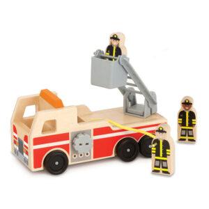 houten brandweerwagen melissa doug leonietjes