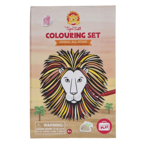 kleur set animal all stars tiger tribe