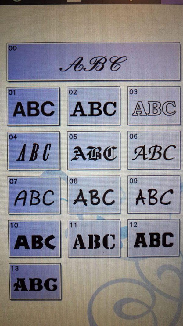 lettertype borduur leonietje's