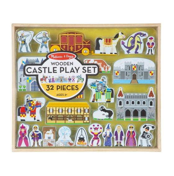 melissa doug speelset kasteel 32-delig leonietjes