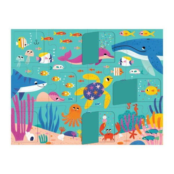 flapjespuzzel oceaan lift the flap puzzel mudpuppy