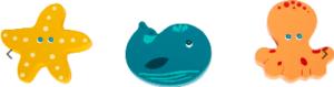 11662 small foot legler rammelaar zeedieren leonietje's