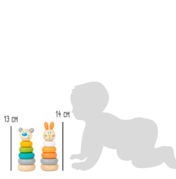 11714 stapeltoren konijn en beer small foot leonietje's