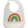 Siliconen slab wit met gekleurde regenboog